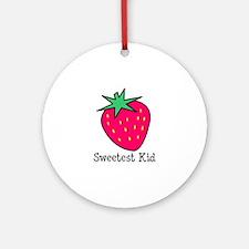 Strawberry Sweetest Kid Ornament (Round)