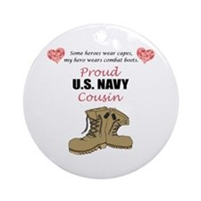 Proud US Navy Cousin Ornament (Round)