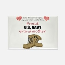 Proud US Navy Grandmother Rectangle Magnet