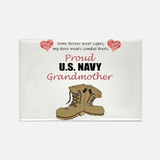 Proud US Navy Grandmother Rectangle Magnet