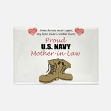 Proud US Navy Mother-in-Law Rectangle Magnet (10 p