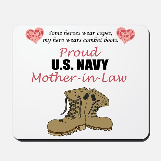 Proud US Navy Mother-in-Law Mousepad