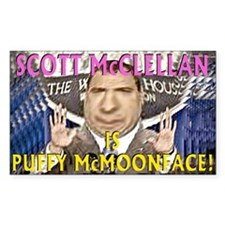 Scott McClellan is Puffy McMoonface Decal