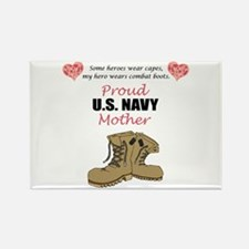 Proud US Navy Mother Rectangle Magnet