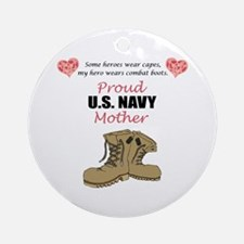 Proud US Navy Mother Ornament (Round)