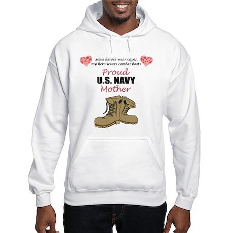 Proud US Navy Mother Hooded Sweatshirt