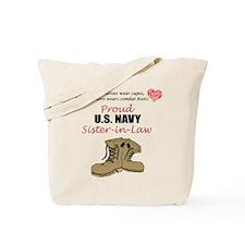 Proud US Navy Sister-in-Law Tote Bag