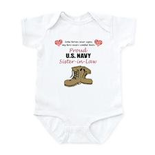 Proud US Navy Sister-in-Law Infant Bodysuit