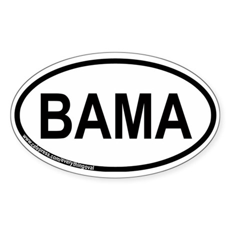 Bama Oval Sticker