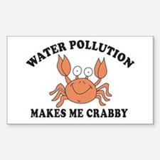 Crabby Rectangle Sticker 10 pk)