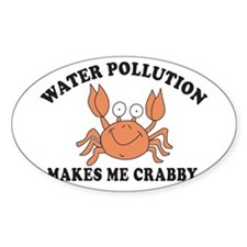 Crabby Oval Decal