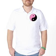 Pink Yin and Yang T-Shirt