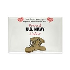 Proud US Navy Sister Rectangle Magnet