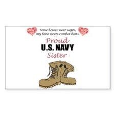Proud US Navy Sister Rectangle Decal