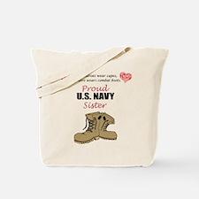 Proud US Navy Sister Tote Bag