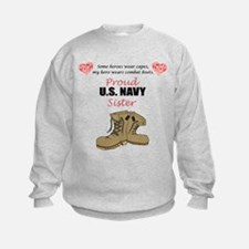 Proud US Navy Sister Sweatshirt