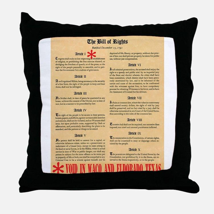 Texas Civil Rights Throw Pillow