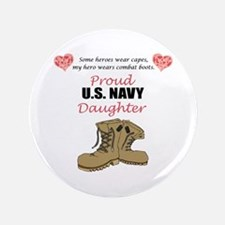 "US Navy Daughter 3.5"" Button"