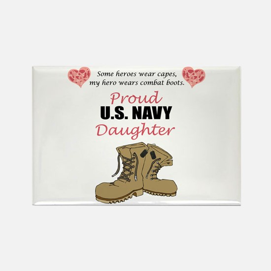 US Navy Daughter Rectangle Magnet