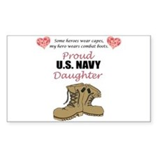 US Navy Daughter Rectangle Decal