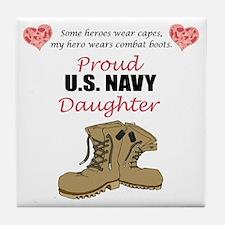 US Navy Daughter Tile Coaster