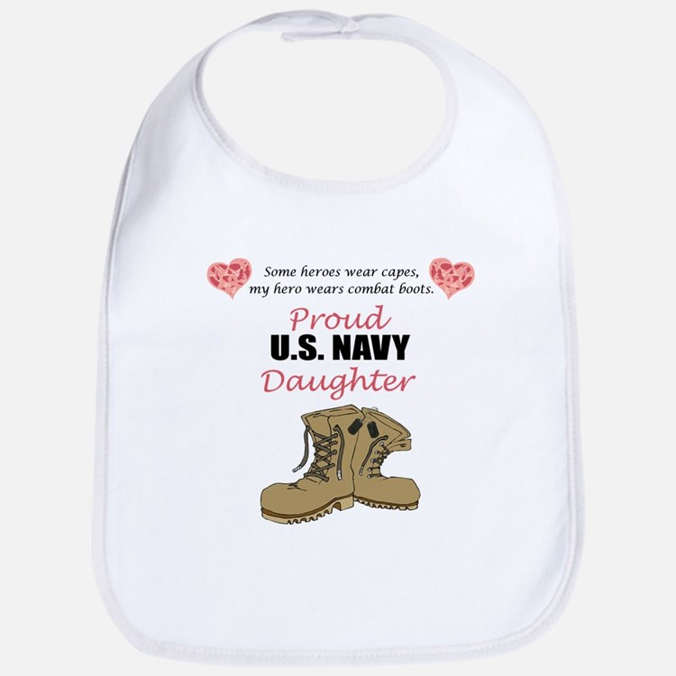 US Navy Daughter Bib