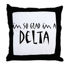 I'm a Delta Throw Pillow