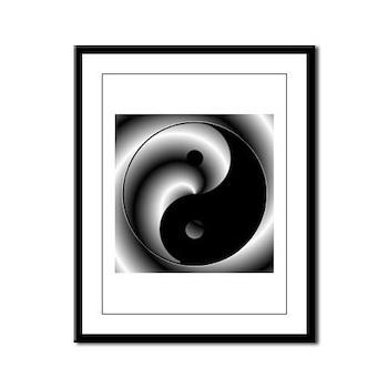 Yin and Yang Framed Panel Print