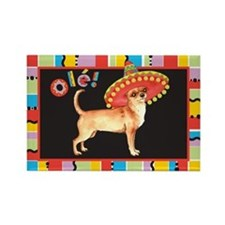 Fiesta Chihuahua Rectangle Magnet