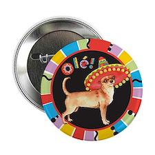 "Fiesta Chihuahua 2.25"" Button"