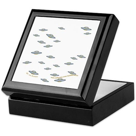 Cute Little UFO's Keepsake Box