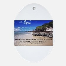 Peace from God Oval Ornament