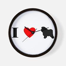 I Heart Bolognese Wall Clock
