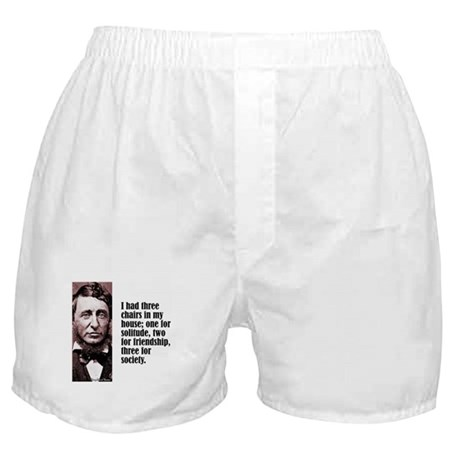 "Thoreau ""3 Chairs"" Boxer Shorts"