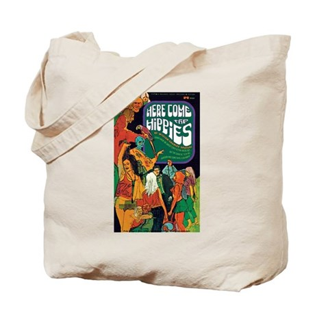 "Tote Bag - ""Here Come the Hippies"""