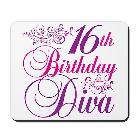 16th Birthday Diva Mousepad