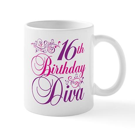 16th Birthday Diva Mug