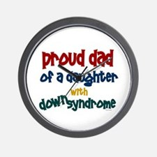 Proud Dad.....2 (Daughter DS) Wall Clock