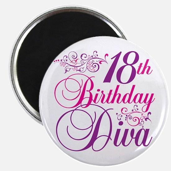 18th Birthday Diva Magnet