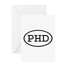PHD Oval Greeting Card