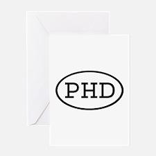 PHD Oval Greeting Card