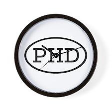 PHD Oval Wall Clock