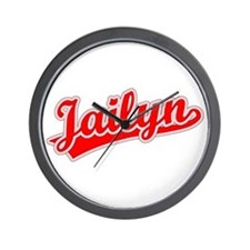 Retro Jailyn (Red) Wall Clock