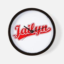Retro Jailyn (Red) Wall Clock