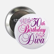 "30th Birthday Diva 2.25"" Button"