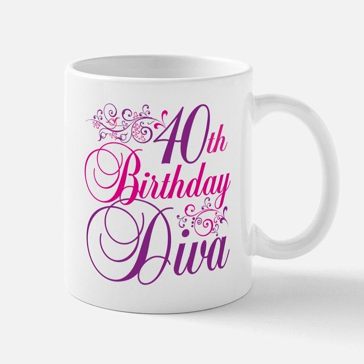 40th Birthday Diva Mug