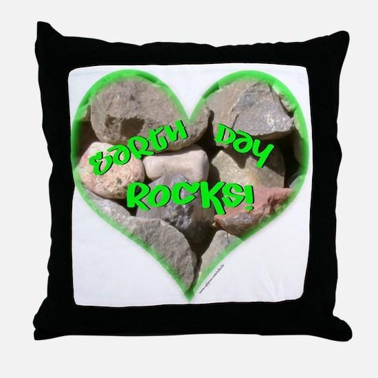 Earth Day Rocks! Throw Pillow