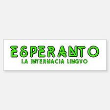 Neon Esperanto Bumper Car Car Sticker