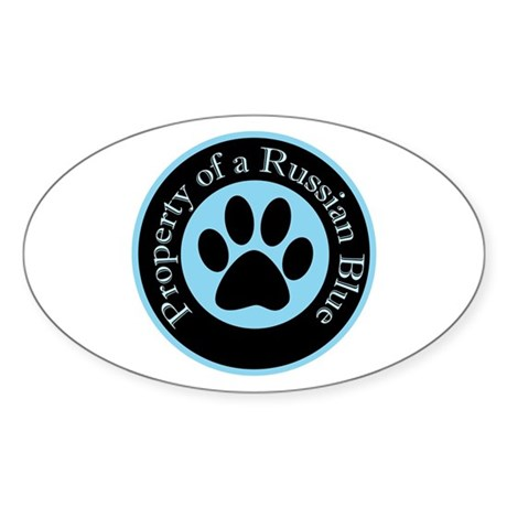 Property of a Russian Blue Oval Sticker