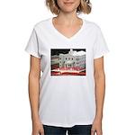 FLDS Mormon Temple Women's V-Neck T-Shirt